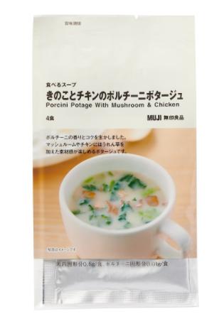 食べるスープ きのことチキンのポルチーニポタージュ